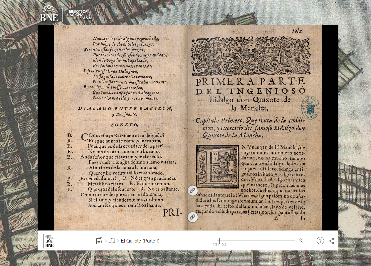 BNE (Spanish National Library): Interactive Quixote