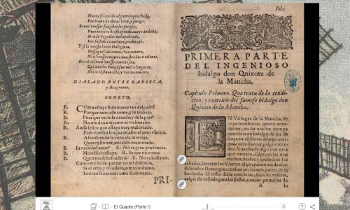 BNE (Spanish National Library): Interactive Quixote
